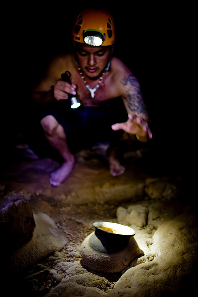 Wondering Maya archeological site, the ATM cave in Belize.
