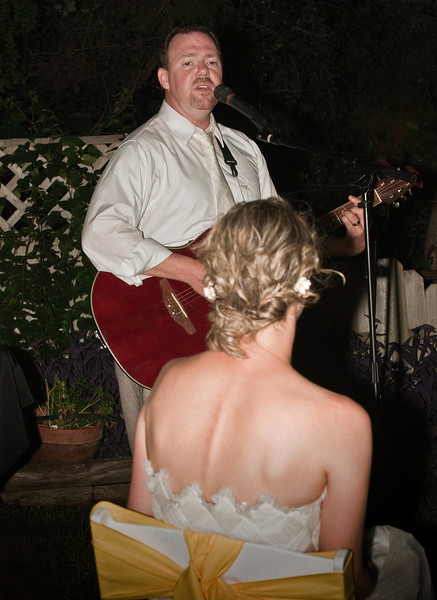 """Green Eyes"" - Chris sings to his new bride - Chris & Julianna's Wedding Reception"
