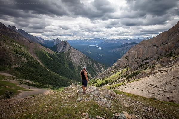 Myself on the saddle of Grizzly peak, Kananaskis Ab.