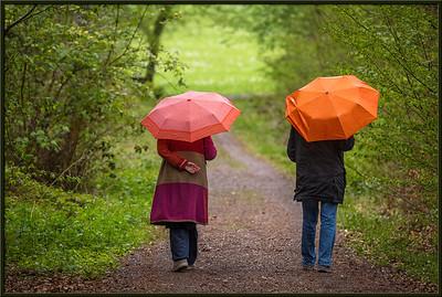 Spaziergang bei Regen