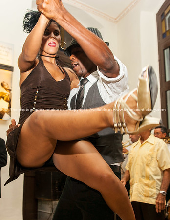 Dancing, dancers in Cuban bar.<br /> <br /> Model Release; No. Editorial or personal use only.