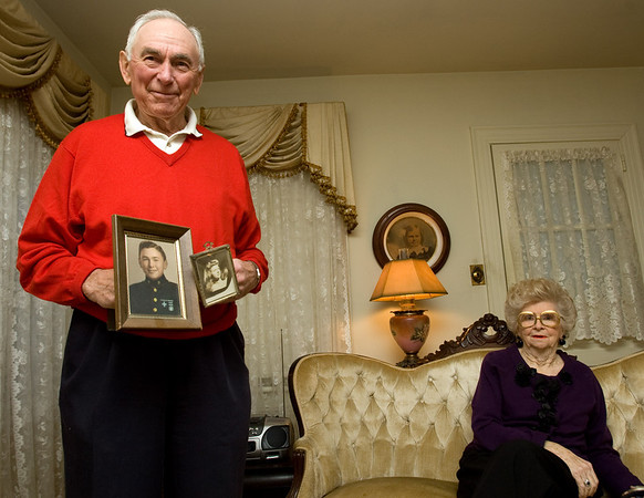 Steve and Irma Greytak in their Greenville home.  Steve Greytak holds photos of he and his wife of 20 years, Irma, when they first met at the age of 18, only to meet again later in life and were married in 1989.