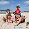 Young family at Papamoa beach