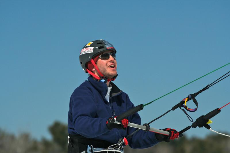 Charley snowkiting