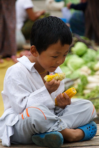 Eating the profits. Paro, Bhutan