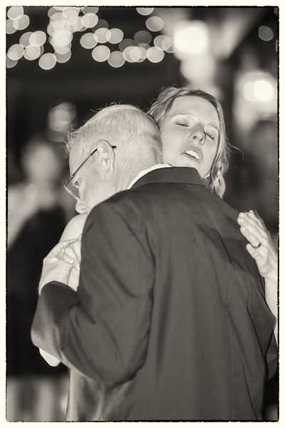 A Fathers Goodbye to his Daughter the Bride - BW