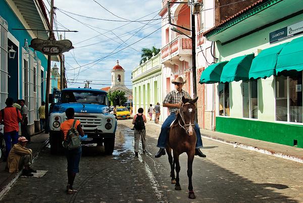 Cuban cowboy in Trinidad.