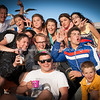 Summer fun, group pose for the camera while enjoying their early Saturday evening, Pilot Bay, Mount Maunganui.<br /> <br /> <br />  Model Release; No. Editorial or personal use only.