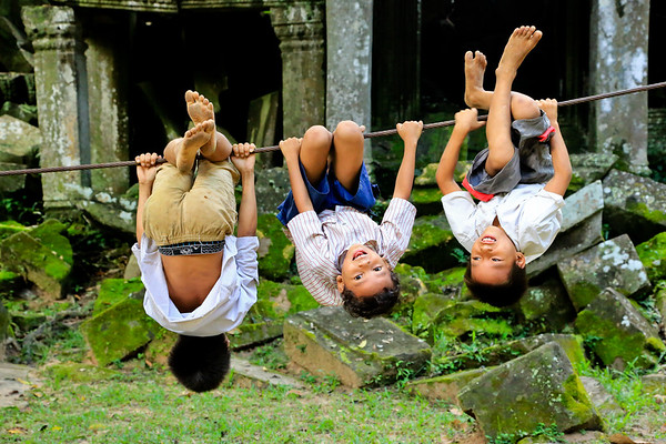Boys will be Boys - Angkor, Cambodja