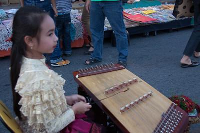 Musician, Street Market,Chiang Mai, Thailand, 2012