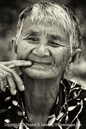 Old Woman Pondering - B&W Copyright 2018 Steve Leimberg UnSeenImages Com _Z2A1906