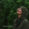 Roger, in the drizzle at the Volo Bog, in Northern Illinois.