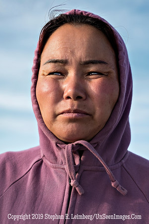 Mongolian Woman at Flaming Cliffs - Close-Up Copyright 2019 Steve Leimberg UnSeenImages Com _DSF7923