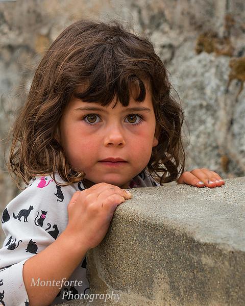 Girl climbing steps at Hiroshima peace memorial at Lovers Point PG