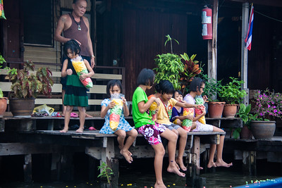 Kids being kids on the canals of Bangkok, Thailand 2012