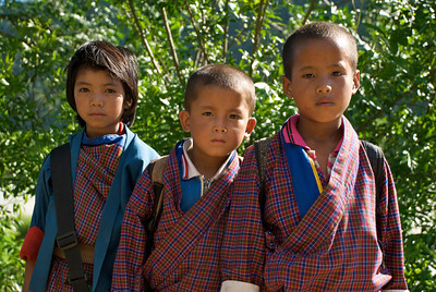 On the way home from school. Punakha, Bhutan