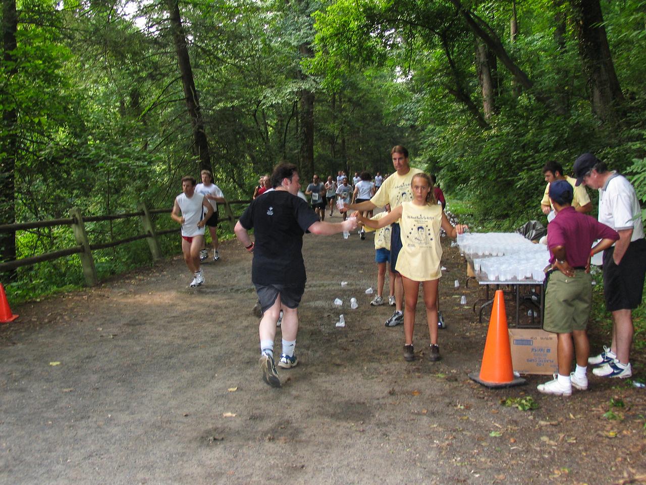 Daniel Walsh rehydrating - Fairmont Park in Chestnut Hill - July 2005