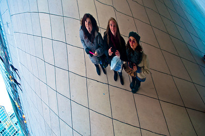 Morgan, Kristina, and myself in the Bean.