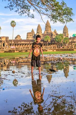 In Angkor Wat - Cambodja