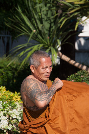 Buddhist Monk, Chedi Luang, Chiang Mai Thailand, 2012