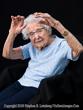 Eleanore Simon at 107 Showing Water Aerobic Exercise Copyright 2018 Steve Leimberg UnSeenImages Com  A8450293