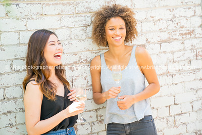 Two hip, trendy young women