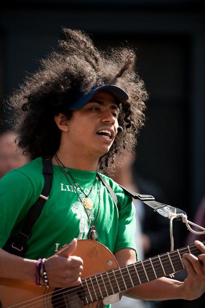 Street musician on Strøget