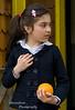 Chilean Girl with orange, tortel Chile
