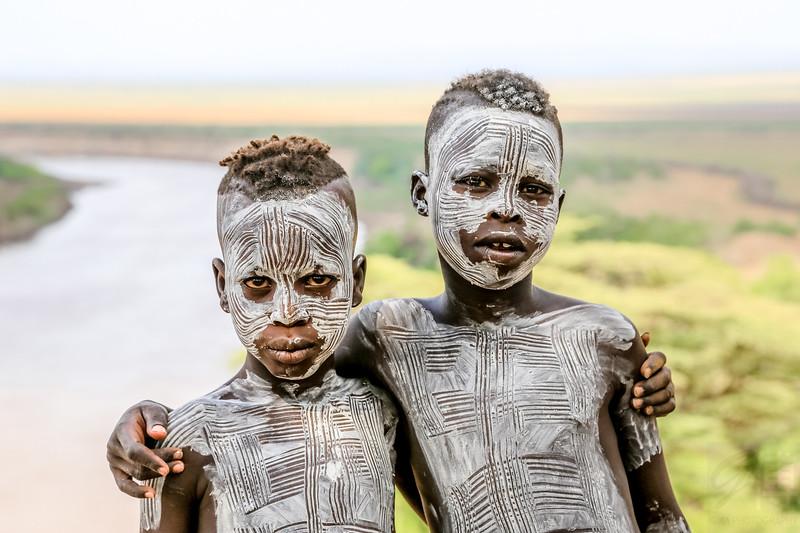 Karo Boys - Omo Valley, Ethiopia
