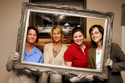 The Calgary 4th Ward Relief Society presidency in 2006.  From left to right: 2nd counselor Brenda Morgan, President Becky Galbraith, secretary Darcie Salleh, and 1st counselor Carol Gough.