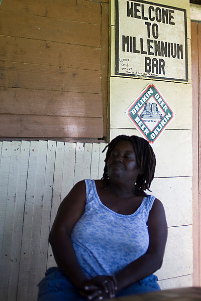 Garifuna village, bar keeper of the Millennium bar.