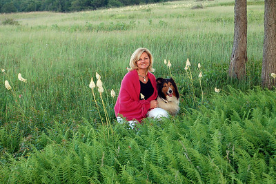 My wife Edie and Darby. Taken in Virginia, Shenandoah National Park, Big Meadows area.