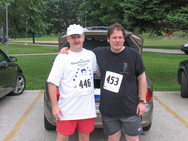 Daniel Walsh and me prior to run - Fairmont Park in Chestnut Hill - July 2005