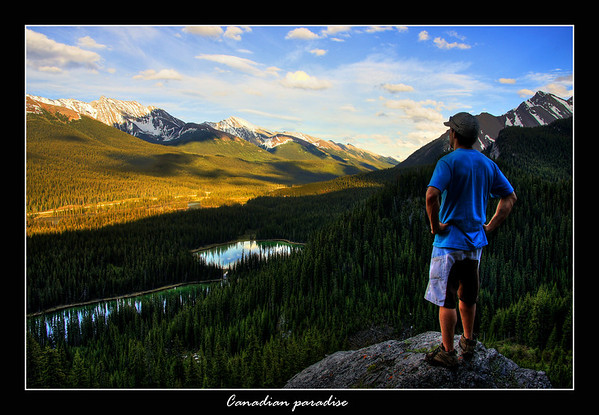 So today we got to where very few people have been before, we kyaked across Burstall Lakes in Kananaskis, found a spot to get out where we heard rushing water, decided to follow the sound we came across a few small trails which lead to the lakes you see in the pictures...so deciding to push on we hiked further towards the rushing water sound, till we came to a small stream, we then pursued to hike up a steep gully getting us to this view point, this is my friend Marc taking in the stunning view of the Kananaskis view...a view very few have seen!!