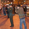 A pair of photographers at the 2008 Boston University Veterans Vigil.
