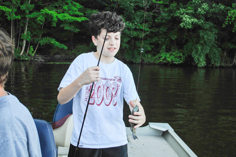 Tristen Di Palo with Blue Gill, Lake Nockamixon - August 2009