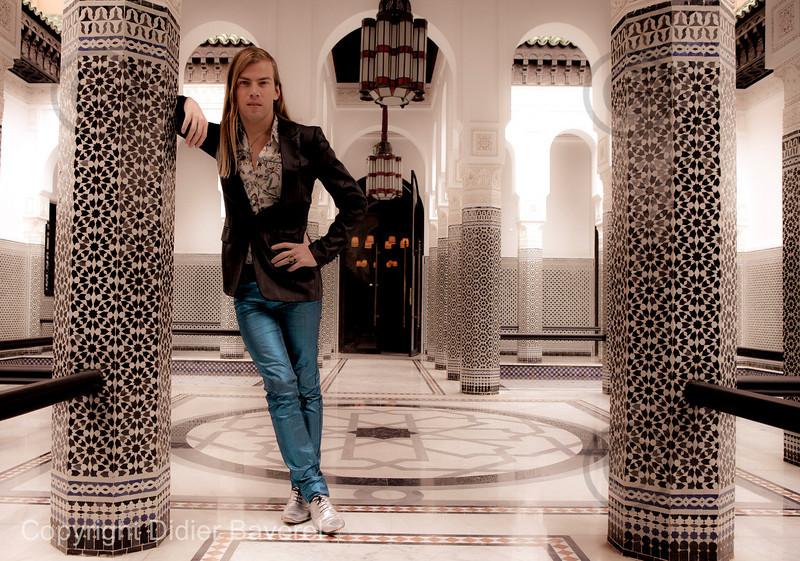 *legende* 10 ieme Festival International du Film de Marrakech. Christophe Guillarme a la Mamounia.