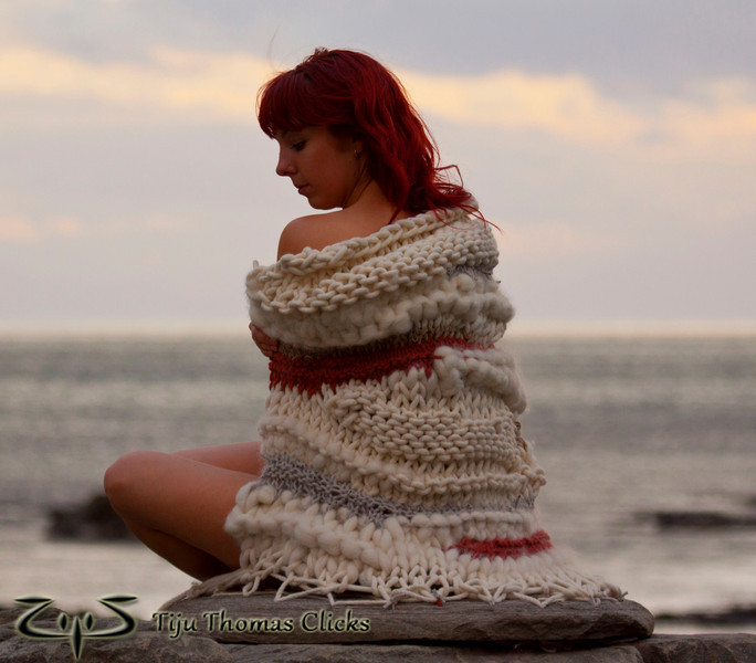 Hard and Soft / New Zealand<br /> <br /> Photo shoot for a woollen body wrap designed by a friend in NewZealand for her college project.