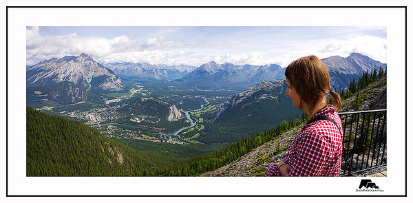 My friend from Germany was passing through Banff and we decided to hike up Sulpher mountain for this famous view of the town