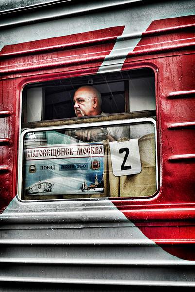 Trans-Siberian train traveler.