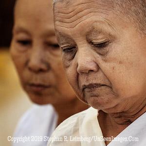 Contemplating Monks Close Up - Copyright 2018 Steve Leimberg UnSeenImages Com _Z2A8863