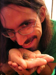 This is me with a hermit crab.