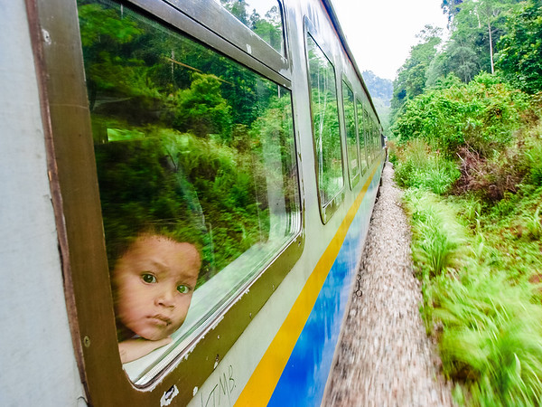 Boy in the Jungle Train - Kuala Lipis, Malaysia