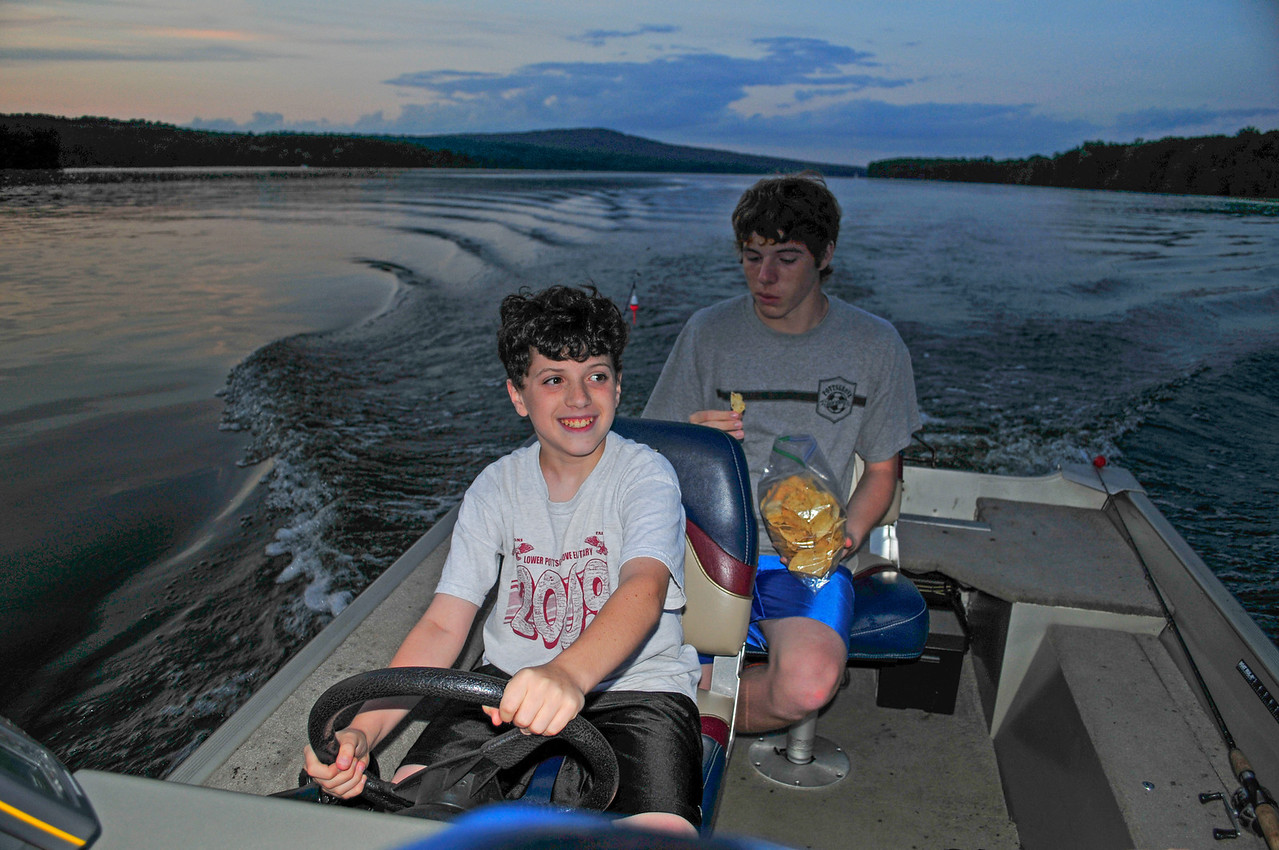 Tristen and Joey Di Palo, Lake Nockamixon - August 2009