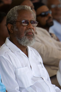 Colville Young, Governor General of Belize at official ceremonies for Indepndence day, 21st September 2007 at Memorial Park, Belize City, Belize.