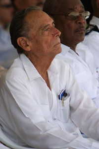 George Cadle Price, Father of the Nation at official opening ceremonies for Independence Day, September 21st 2007 at Memorial Park, Belize City, Belize.
