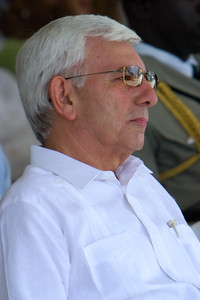 Said Musa, Prime Minister of Belize, at official ceremonies on Independence day, September 21st 2007, at Memorial Park in Belize City, Belize.