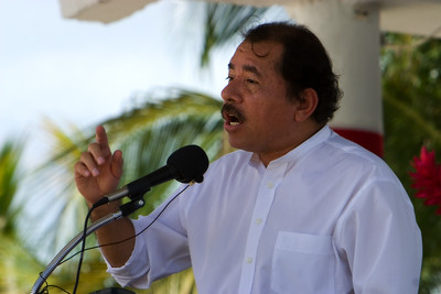 President Ortega of Nicaragua at official ceremonies on Independece Day, September 21st 2007, in Belize City, Belize.