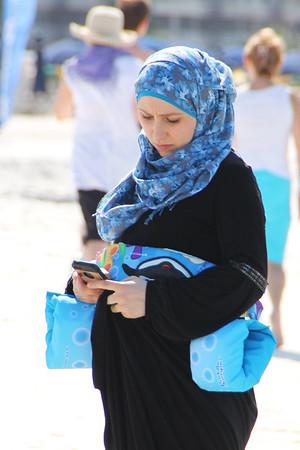 Lady on the beach...