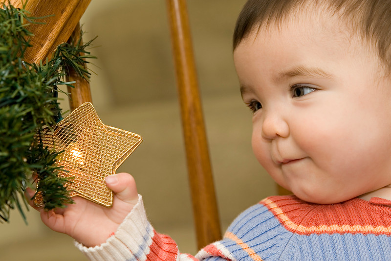 Brooke at her first Christmas